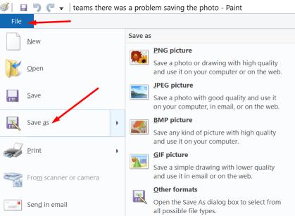 ms paint change image format