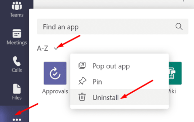 remove app from microsoft teams