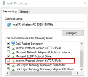 windows 10 ipv6 settings