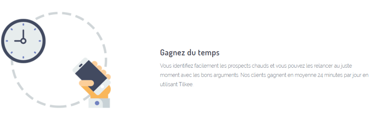Gain de Temps Tilkee for Sales