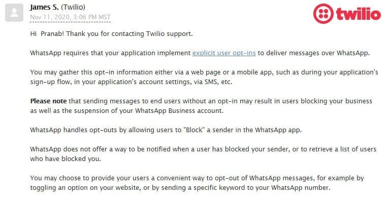 unblock with twilio