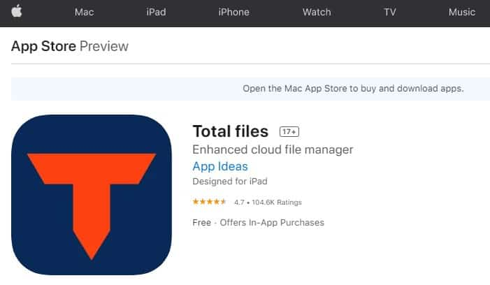 total files appstore