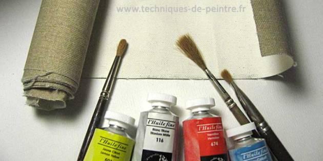 toile-à-peindre - toile marouflée
