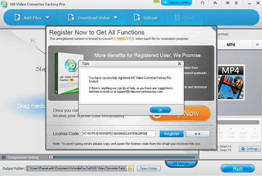 HD Video Converter Factory Pro license code