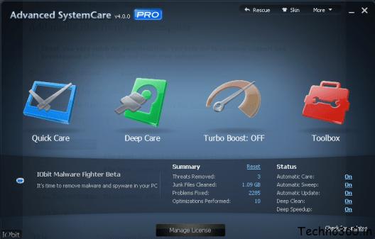 advanced systemcare 10 pro license key free