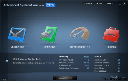 advanced systemcare 10 key free download