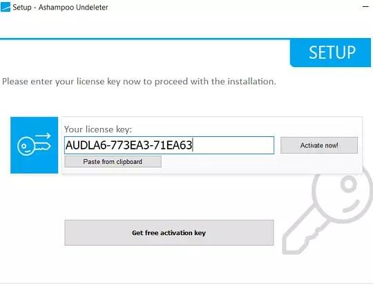 Ashampoo UNDELETER License Code