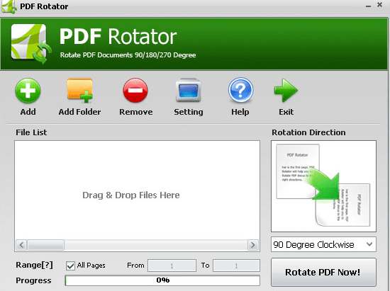 PDF Rotator :Permanently Rotates PDF Pages