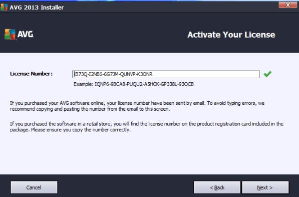 avg internet security 2013 license number