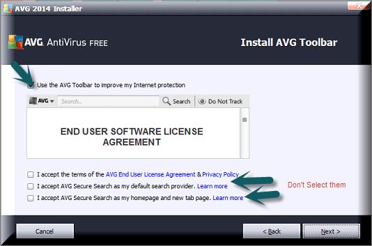 Install AVG Tool Bar