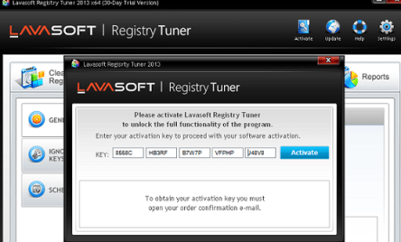 Lavasoft Registry Tuner license key