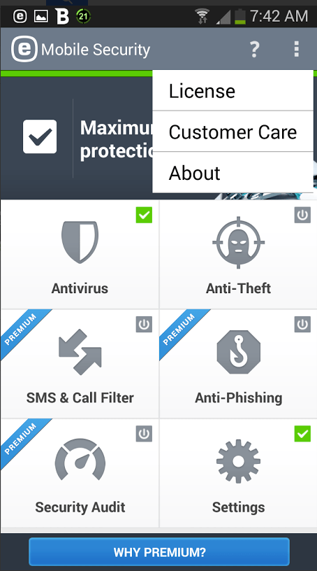ESET Mobile Security 2.0