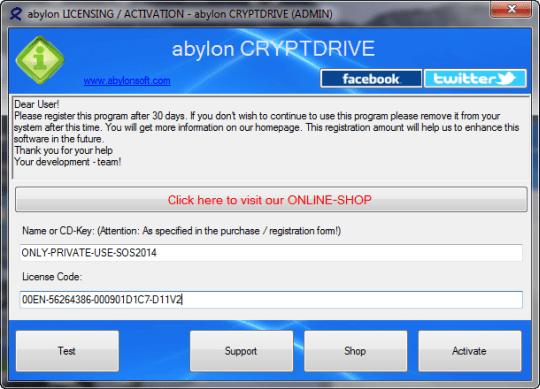 abylon CRYPTDRIVE license