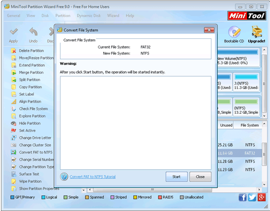 MiniTool Partition Wizard functions