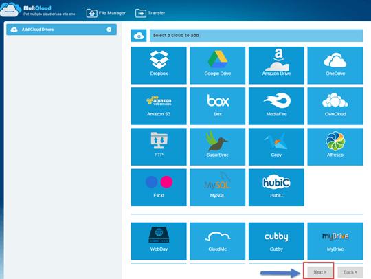 add cloud drives to multcloud
