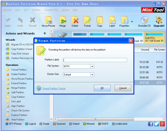 MiniTool Partition Wizard free for home users