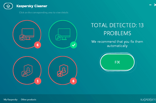 kaspersky cleaner fix problems