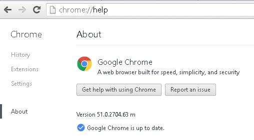 Google Chrome 51