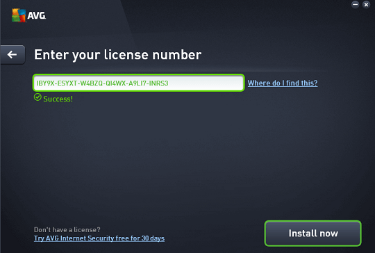avg internet security 2016 license