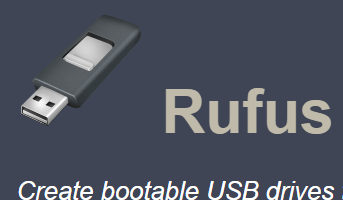 rufus- create bootable usb drives