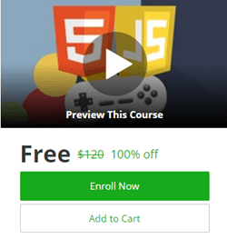 How to create HTML5 Game Udemy course is free