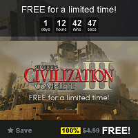 Sid Meier's Civilization III: Complete Edition Free for a limited time