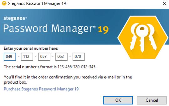 Steganos Password Manager 19 serial number