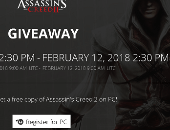 Assassin's Creed 2 PC Game Giveaway