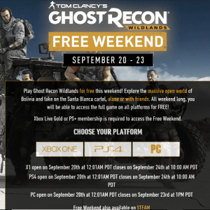 Play Ghost Recon Wildlands for free