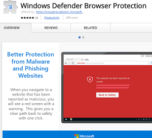 Windows Defender Browser Protection for Chrome