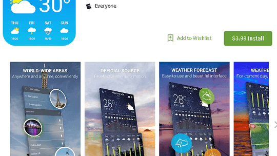 Hourly Weather Pro Android App Free for Limited Time