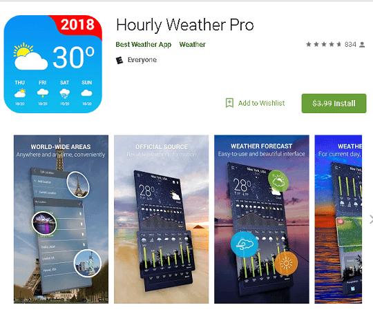 hourly weather pro