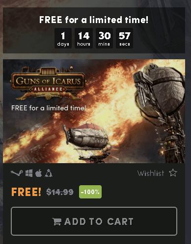 Guns of Icarus Alliance Game Free Steam Key @Humble Store