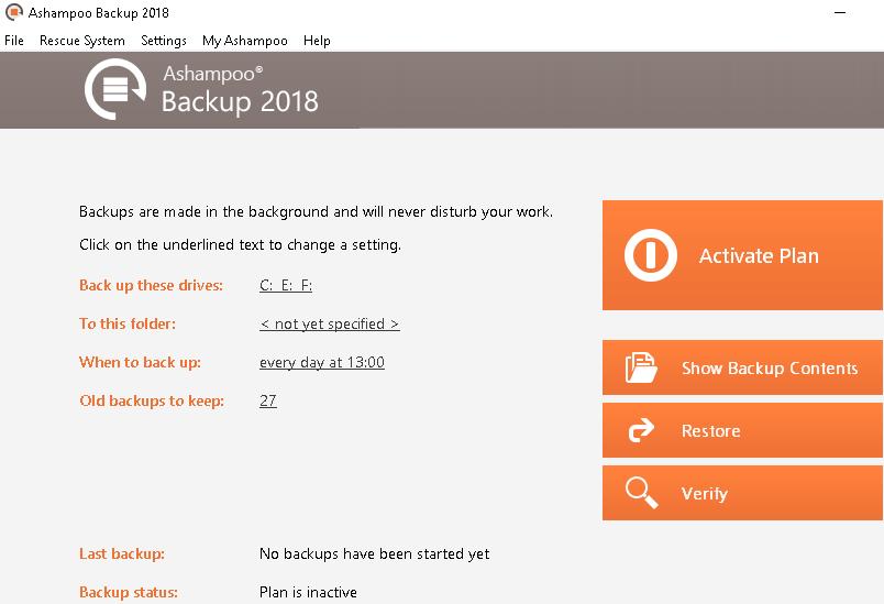 ashampoo backup 2018