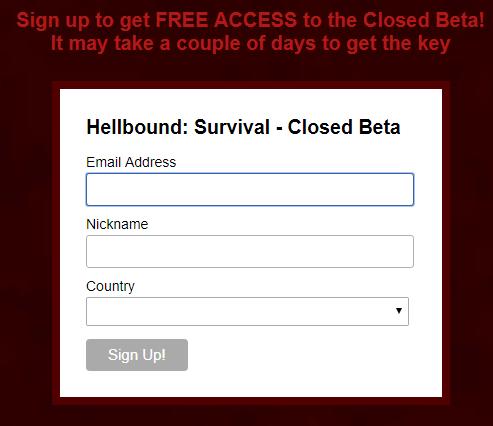 hellbound closed beta steam key