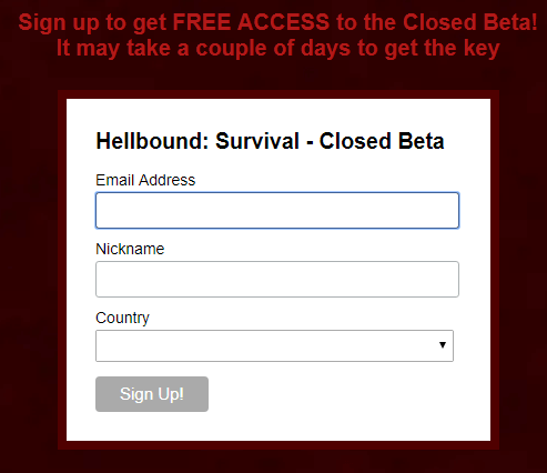 hellbound closed beta steam key