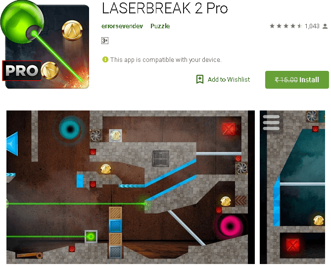 LASERBREAK 2 Pro -Puzzle Game Free for Android
