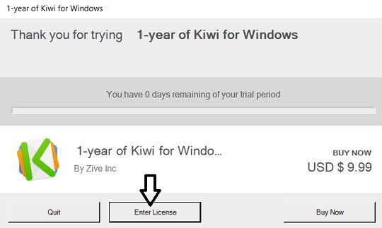 Kiwi for Gmail license