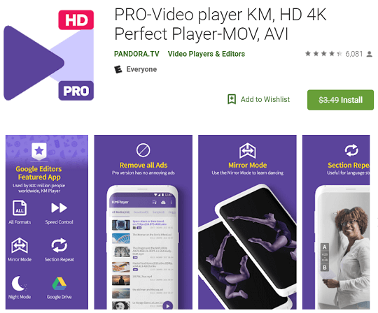 KMPlayer PRO for Android Free until March 25th [Worth $3.99]