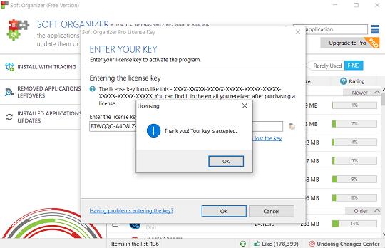 Soft Organizer 7.51 license code