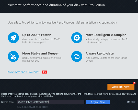 Iobit Smart Defrag 6.4 Pro license code