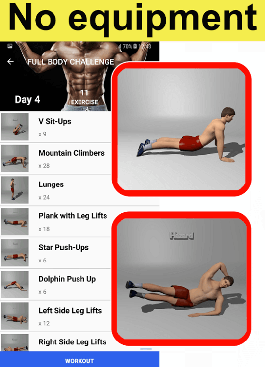 Home Workouts Gym Pro No equipment