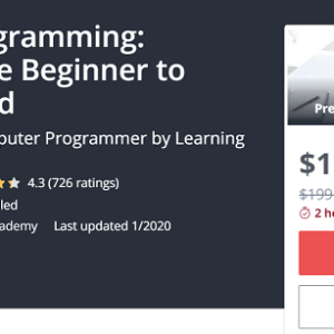 Udemy Video Course about Java Programming