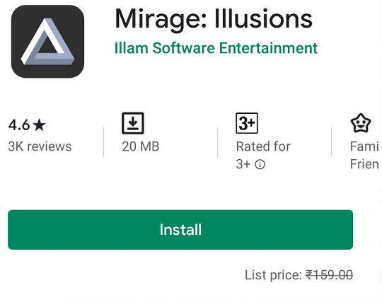 mirage android game free