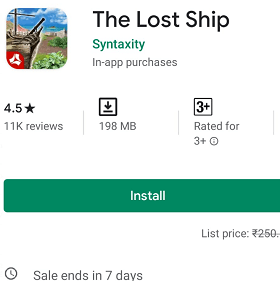 The lost ship adventure and puzzle game