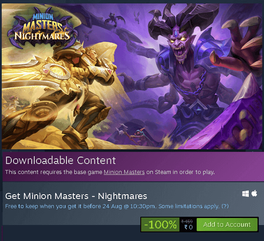 Nightmares - Minion Masters DLC