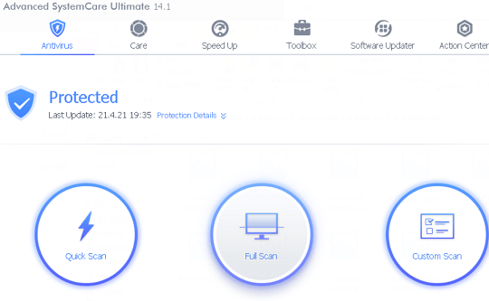 Advanced SystemCare Ultimate 14 Interface