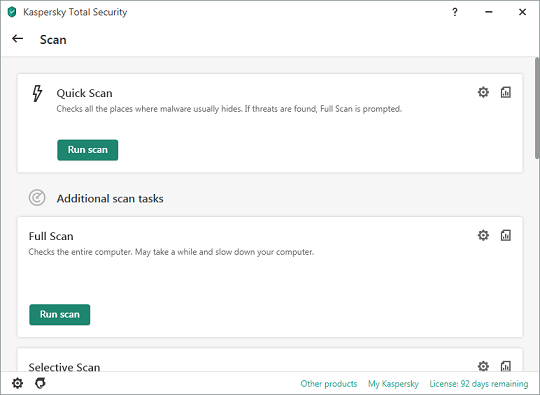 Kaspersky Total Security 2021- malware scanner