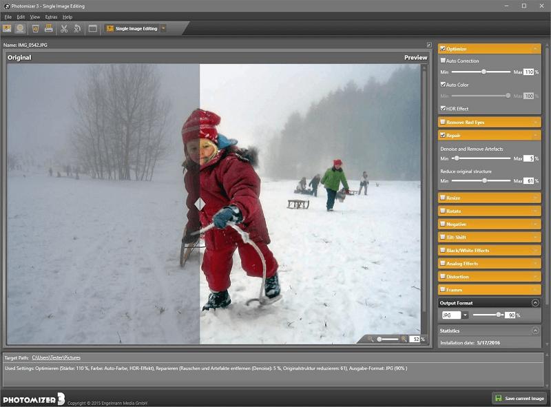 Photomizer 3 Premium-User Interface