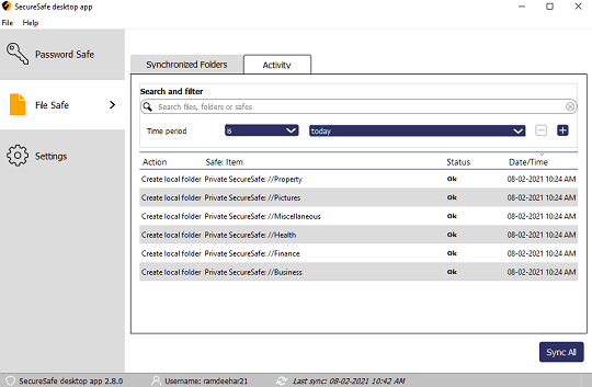 SecureSafe Desktop app